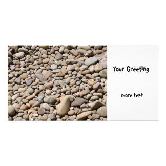 River Rocks Pebbles Photo Greeting Card