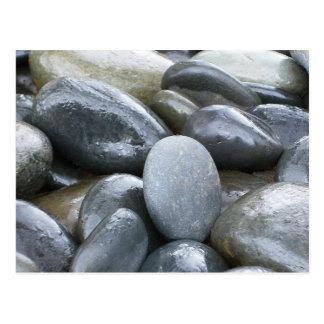 River Rocks Zen Postcard