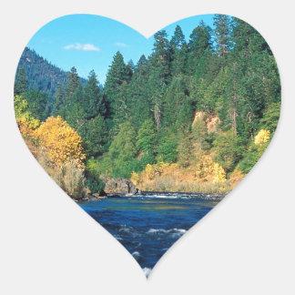 River Rogue Siskiyou Forest Oregon Heart Sticker