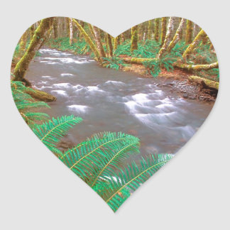 River Running Wild Hughes Olympic Heart Sticker