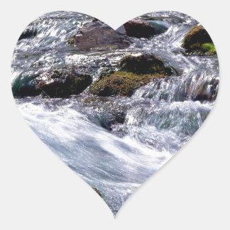 River Rushing Georgia Heart Sticker