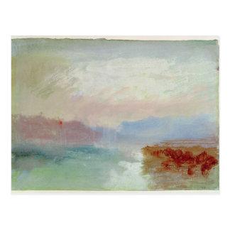 River scene, 1834 postcard