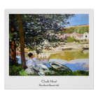 River Scene at Bennecourt, 1868 Claude Monet cool, Poster