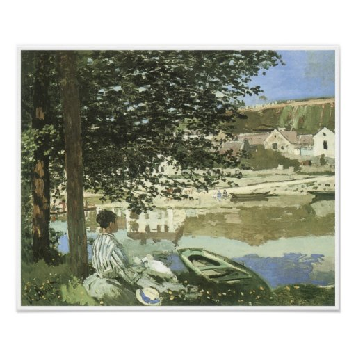 River Scene at Bennecourt, 1868 Poster