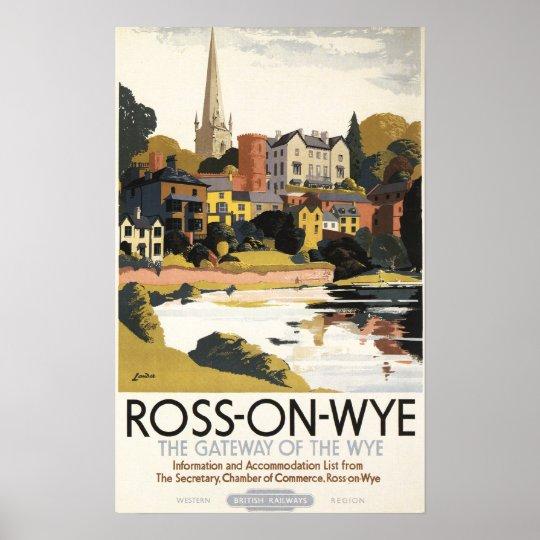 River Scene of Town British Railways Poster