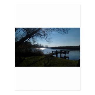 River Scene Postcard