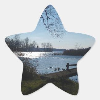 River Scene Star Stickers