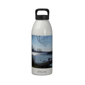 River Scene Reusable Water Bottle