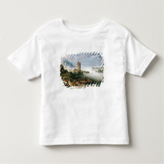 River Scene with a Ruined Tower Toddler T-Shirt