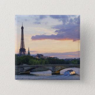 River Seine 15 Cm Square Badge