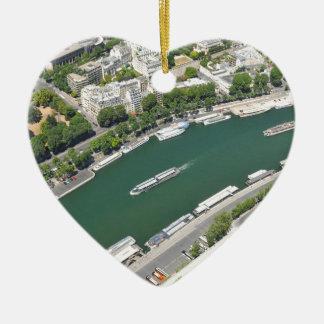 River Seine Ceramic Heart Decoration