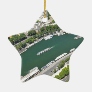 River Seine Ceramic Star Decoration