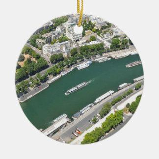 River Seine Christmas Ornament