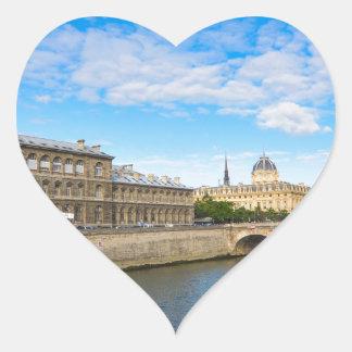 River Seine Heart Sticker