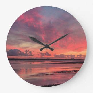 River Severn Sunset Large Clock