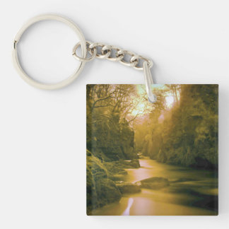 river Single-Sided square acrylic key ring