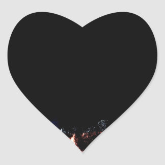 River Snake Sunset Heart Sticker