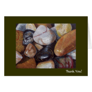 RIVER STONES THANK YOU GREETING CARD