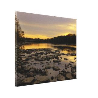River Sunrise Canvas Prints
