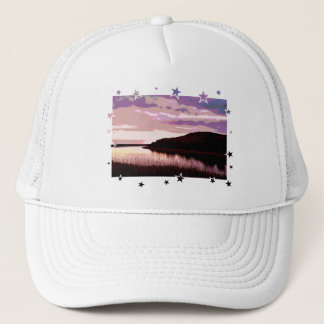 RIVER SUNSET TRUCKER HAT