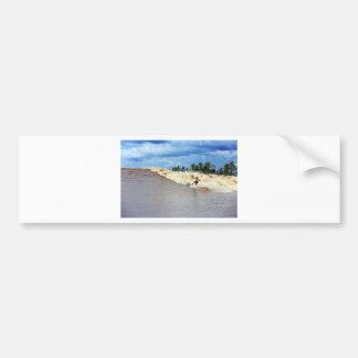River surfing tidal bore Seven Ghosts Bumper Sticker