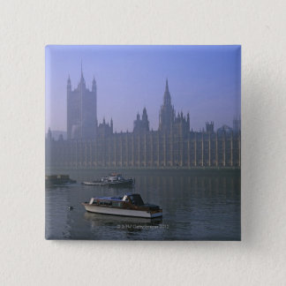 River Thames and Houses 15 Cm Square Badge