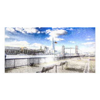 River Thames Art Personalised Photo Card
