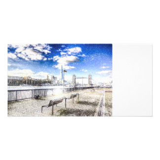 River Thames Art Customised Photo Card