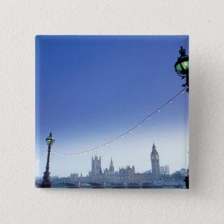 River Thames at Dusk 15 Cm Square Badge