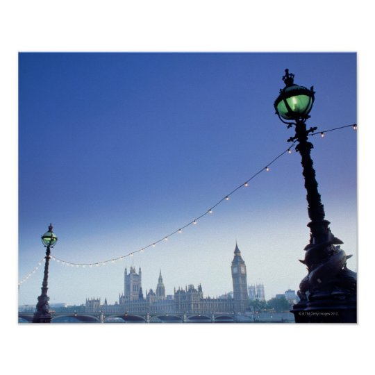 River Thames at Dusk Poster