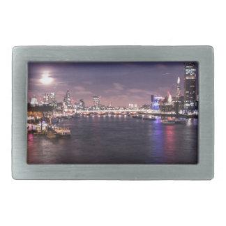 River Thames at Night Belt Buckle