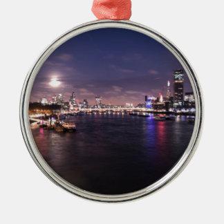 River Thames at Night Christmas Ornament