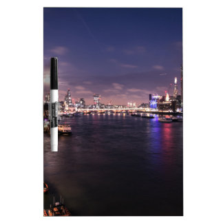 River Thames at Night Dry Erase Board