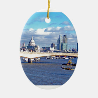 River Thames Christmas Ornament