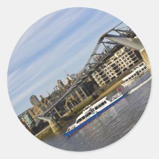 River Thames Downhill Round Sticker