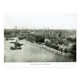 River Thames from Tower Bridge 1900 Post Card