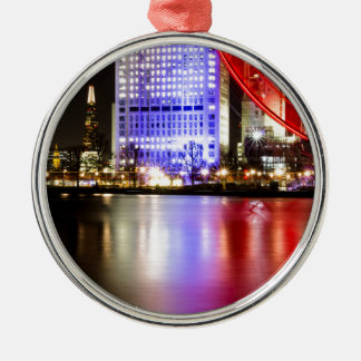 River Thames in Colour at night Christmas Ornament