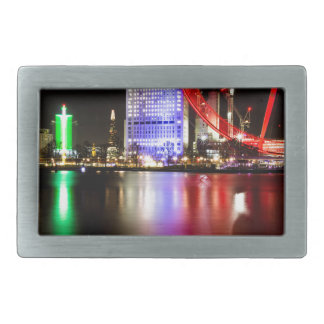 River Thames in Colour at night Rectangular Belt Buckle