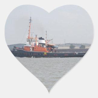 River Thames Tug Heart Sticker