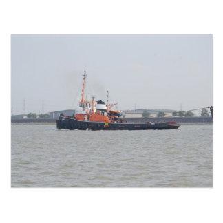 River Thames Tug Postcard