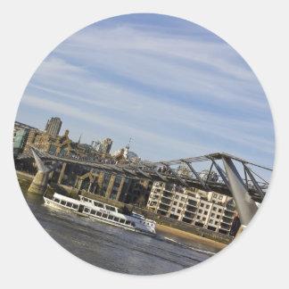 River Thames Uphill Round Sticker