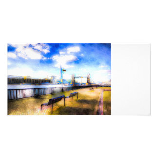 River Thames View Art Personalized Photo Card