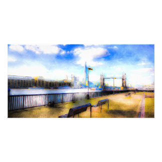 River Thames View Art Customised Photo Card