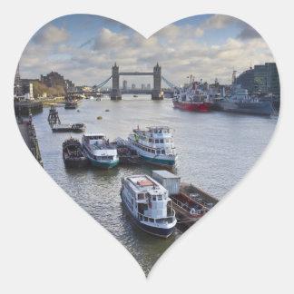 River Thames view Heart Sticker