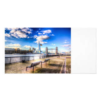 River Thames View Personalised Photo Card