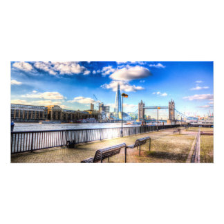 River Thames View Personalized Photo Card