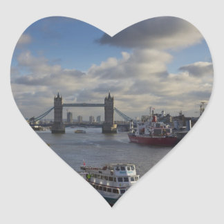 River Thames view Heart Stickers