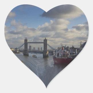 River Thames Waterfall Heart Sticker