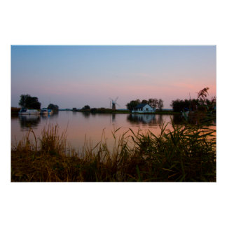"""""""River Thurne at Twilight"""" posters"""