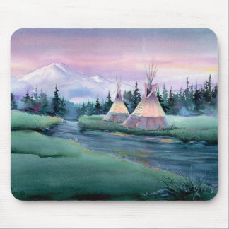 RIVER TIPI CAMP by SHARON SHARPE Mouse Mat